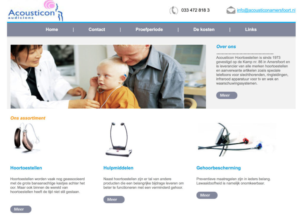ACousticon oude website