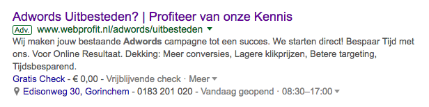Adverteren in google gorinchem